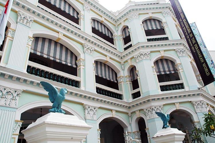 The exterior of the Peranakan Museum in Singapore