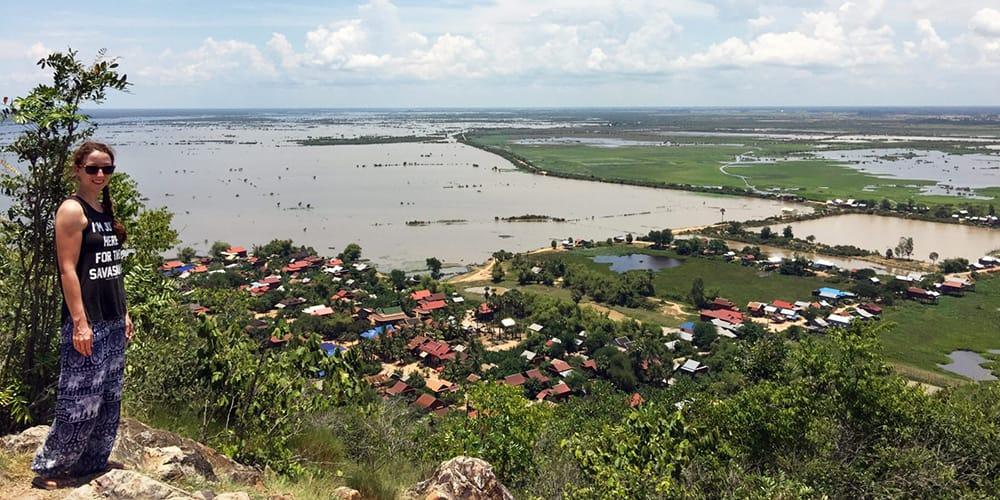 Biking to Tonle Sap Lake in Siem Reap, Cambodia