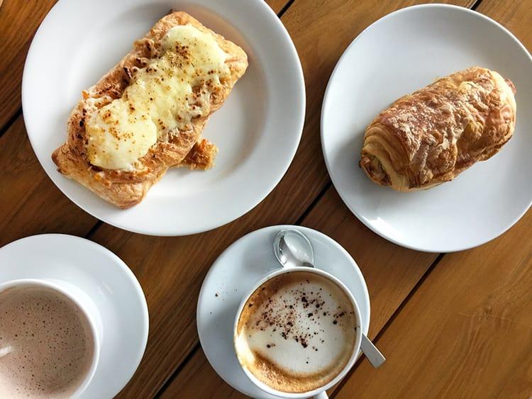 coffee and pastries at Pepita Restaurant in Nusa Lembongan Bali