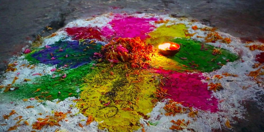 Celebrating the Tihar Festival in Nepal