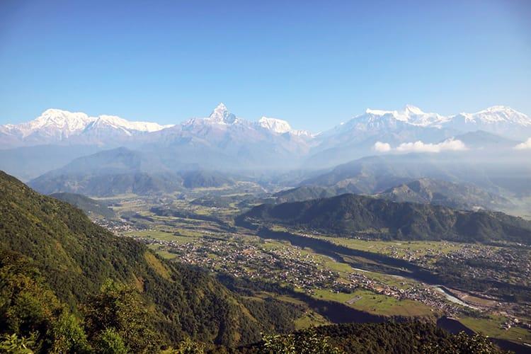 The view of the Himalaya from Sarangkot