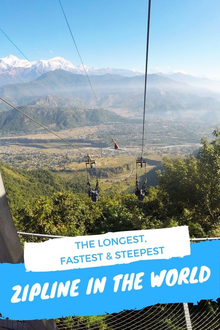 Experiencing the Longest, Steepest, and Fastest Zipline in the World in Pokhara, Nepal Nepal Travel Honeymoon Backpack Backpacking Vacation #travel #honeymoon #vacation #backpacking #budgettravel #offthebeatenpath #bucketlist #wanderlust #Nepal #Asia #southasia #exploreNepal #visitNepal #seeNepal #discoverNepal #TravelNepal #NepalVacation #NepalTravel #NepalHoneymoon