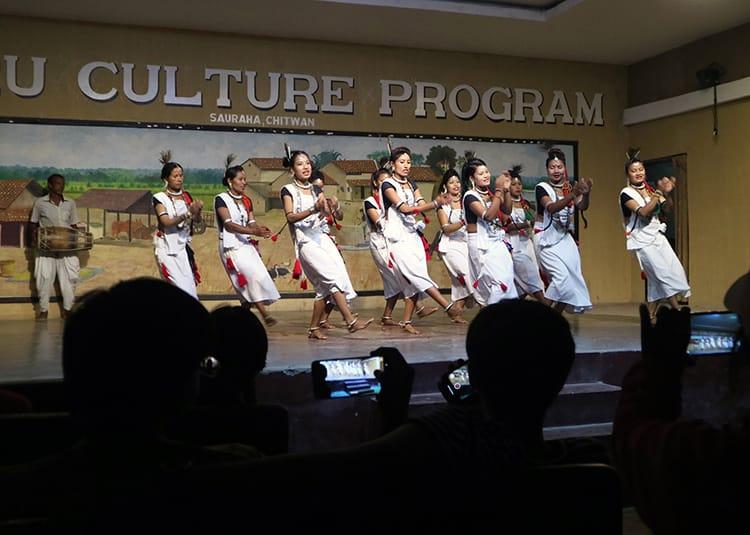 The Tharu Cultural Dance program in Chitwan