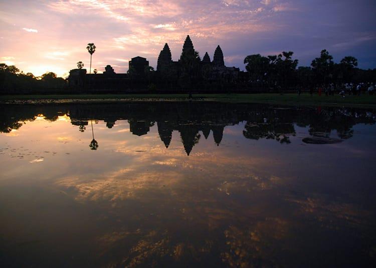 Siem Reap Cambodia Angkor Wat Temple at sunrise
