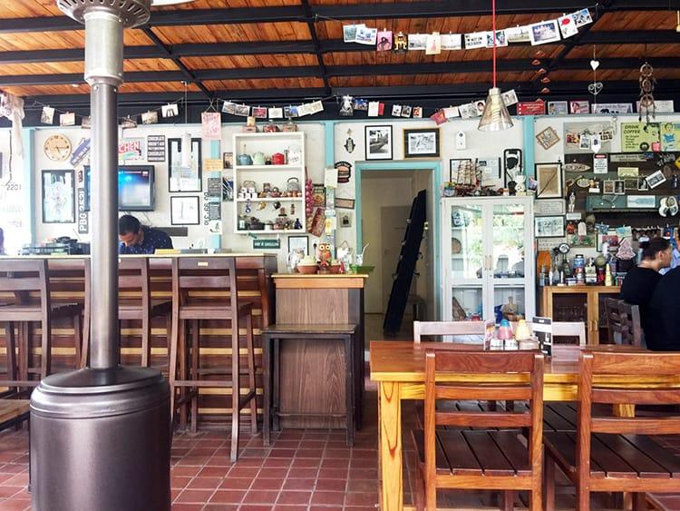The inside of Nina's in Kathmandu