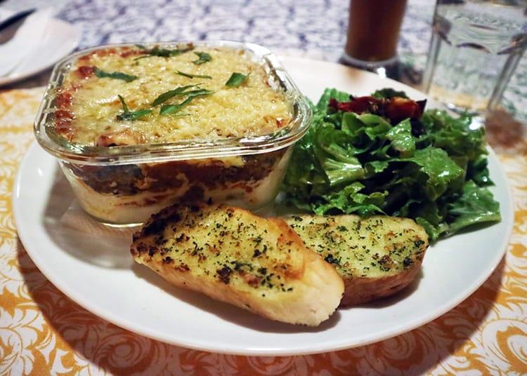 Lasagna at Swotha Cafe in Patan Nepal