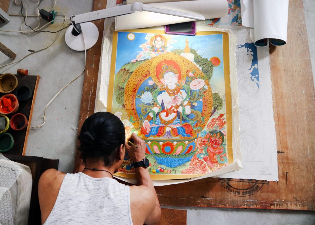 thangka painting Kichaa Chitrakar Nepal