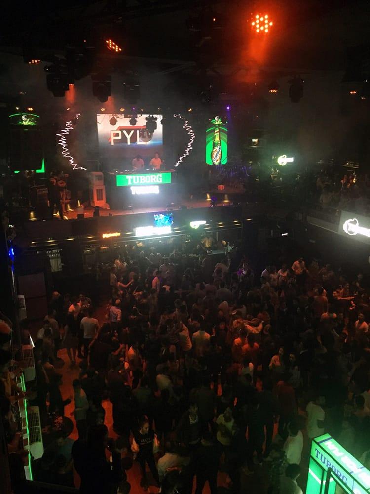 A German DJ gets the crowd going at Club Deja Vu in Kathmandu