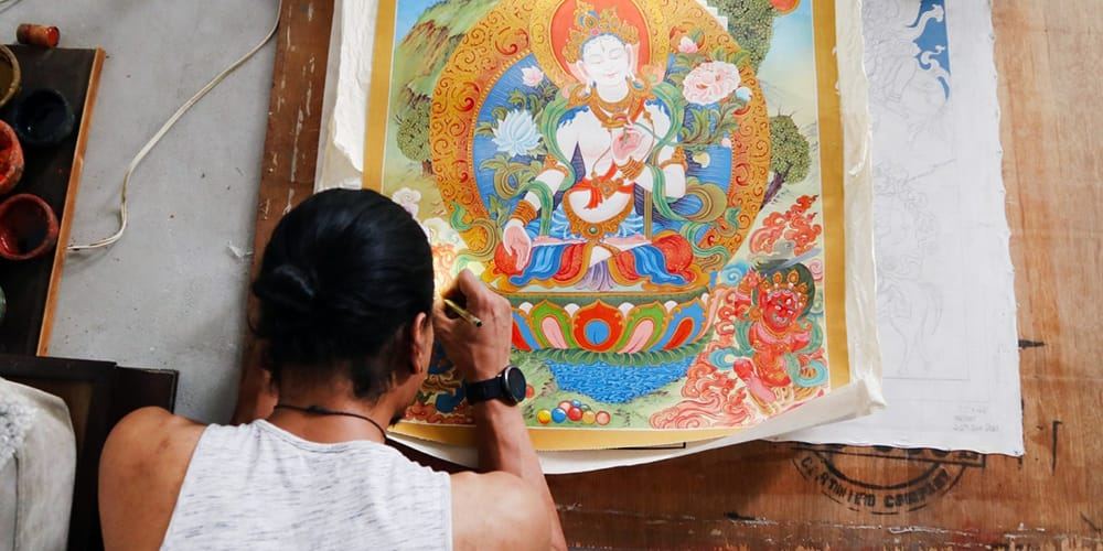 Thangka Painting in Nepal