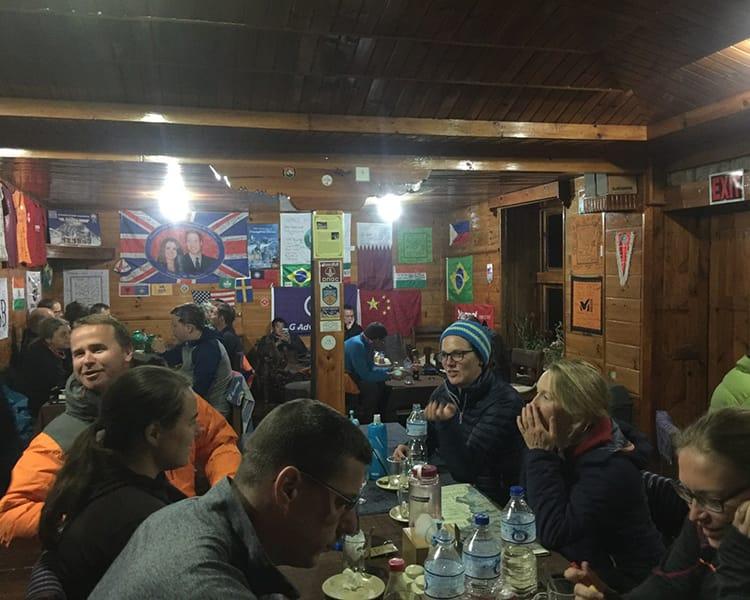 Inside a tea house restaurant in Nepal
