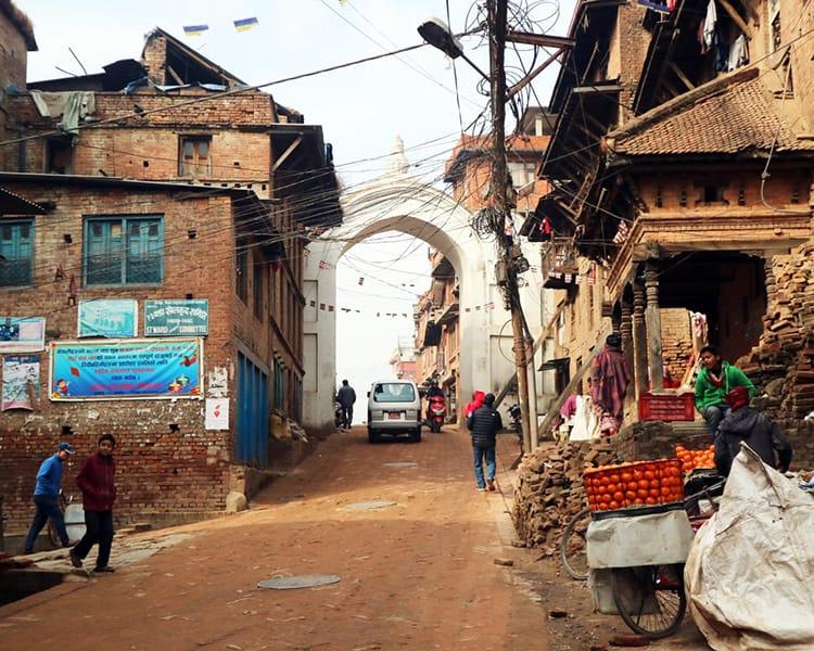 The Bharwacho Gate in Bhaktapur
