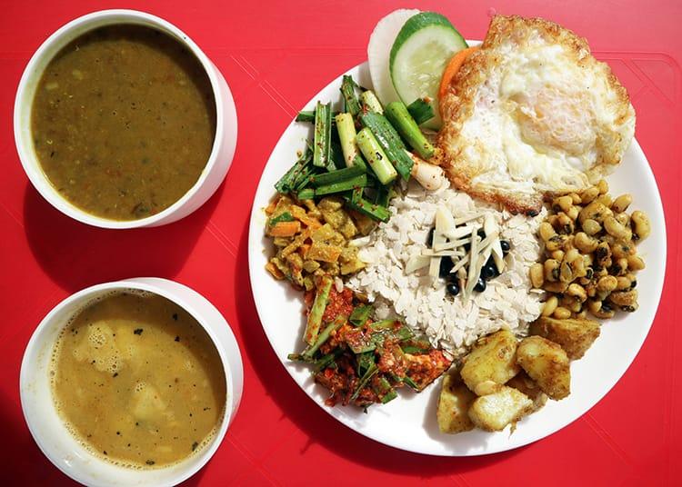 Samay Baji a traditional Newari meal served at Palache Restaurant