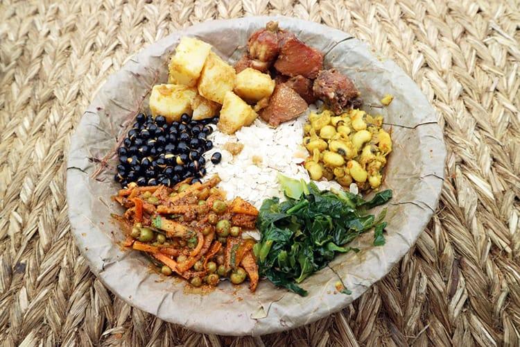 Newa Lahana Restaurants Newari dish of samay baji