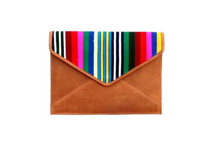 A clutch purse from White Yak