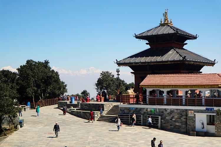 Bhaleshwor Mahadev Temple at the top of Chandragiri Hills