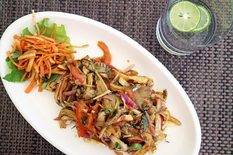 Mushroom sandeko at the restaurant on Chandragiri