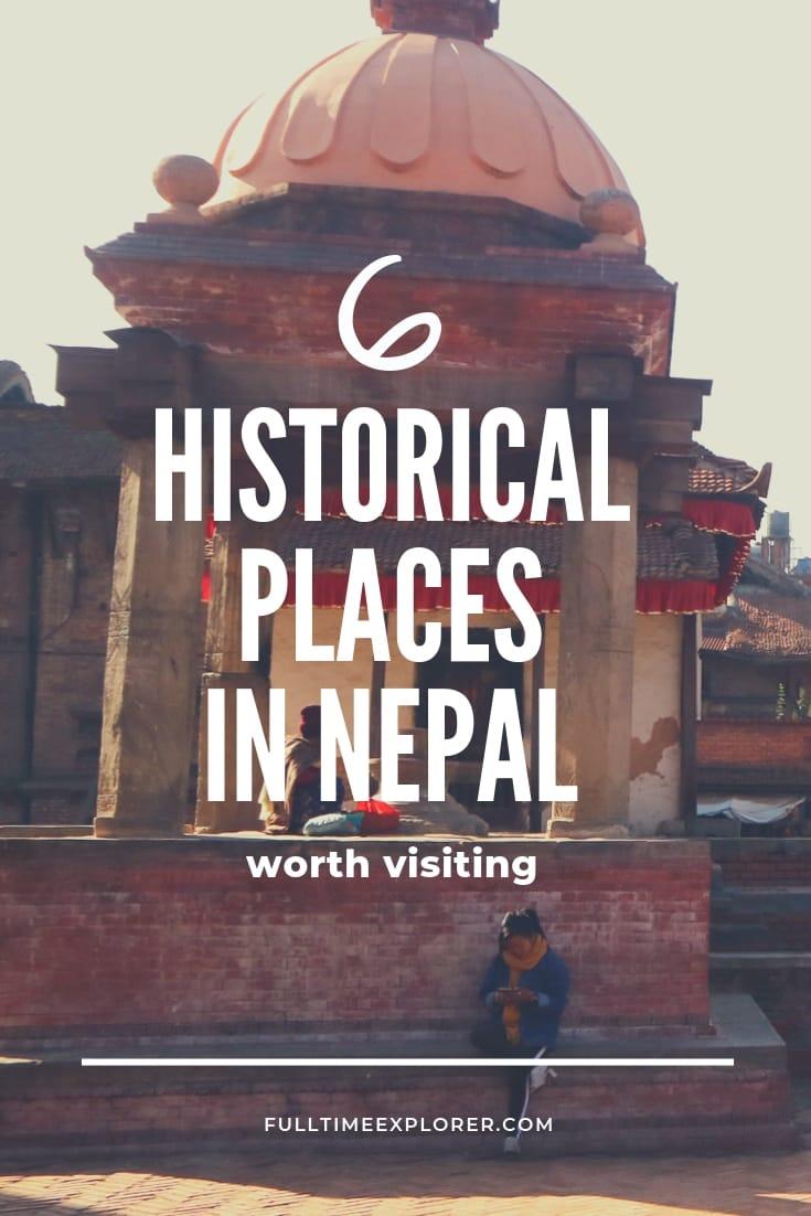 6 Historical Places of Nepal Worth Visiting Full Time Explorer Nepal Travel Honeymoon Backpack Backpacking Vacation #travel #honeymoon #vacation #backpacking #budgettravel #offthebeatenpath #bucketlist #wanderlust #Nepal #Asia #southasia #exploreNepal #visitNepal #seeNepal #discoverNepal #TravelNepal #NepalVacation #NepalTravel #NepalHoneymoon