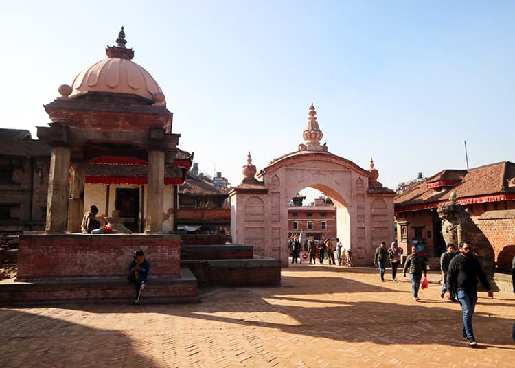 Entrance gate to Bhaktapur Durbar Square in Nepal