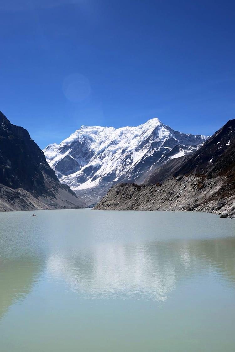 Reflection of the Himalaya Mountain in the Tsho Rolpa Lake in Gaurishankar Conservation Area