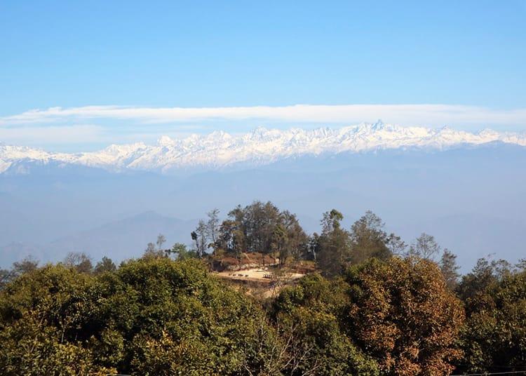 The view from Dhulikhel's Kali Temple picnic spot