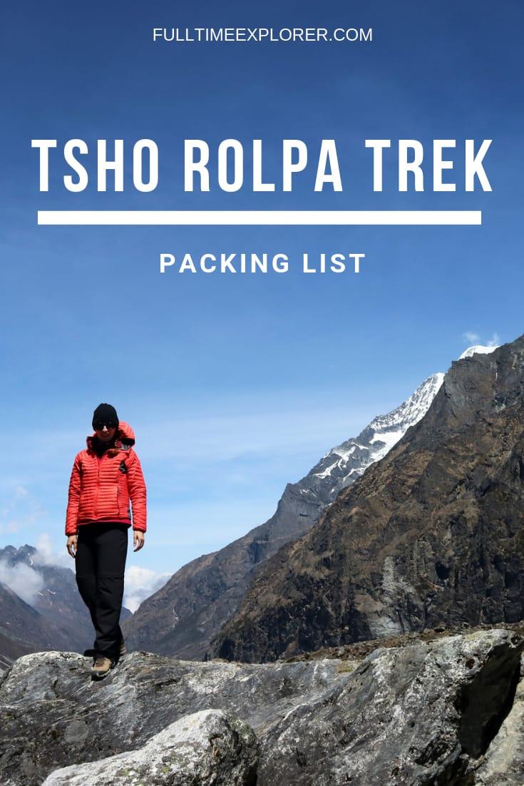 Tsho Rolpa Lake Trek Packing List Full Time Explorer Nepal | Nepal Travel Destinations | Nepal Photo | Nepal Photography | Nepal Honeymoon | Backpack Nepal | Backpacking Nepal | Nepal Vacation | South Asia | Budget | Off the Beaten Path | Wanderlust | Trip Planning| Things to Do | Culture Food | Tourism