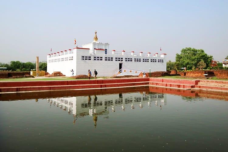 The Maya Devi Temple in Lumbini, Nepal in May