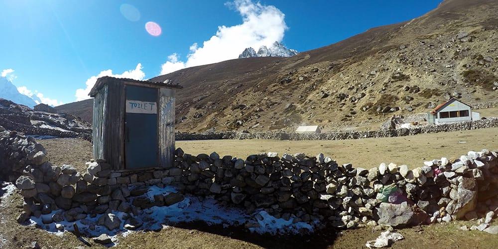 Nepal bathrooms Everest base camp trek
