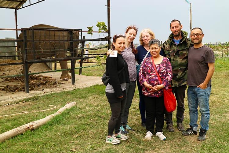 Michelle Della Giovanna from Full Time Explorer and family at SU4E in Chitwan National Park