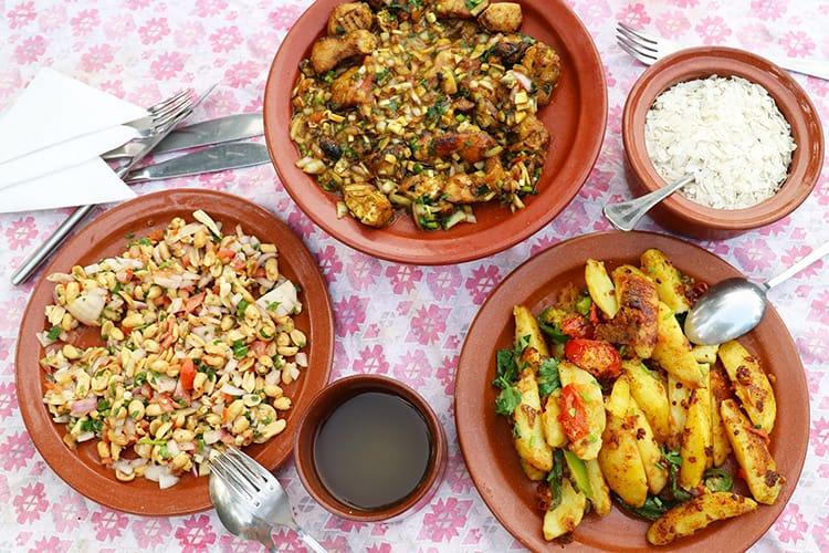 Newari food served at Gaun Ghar in Bandipur