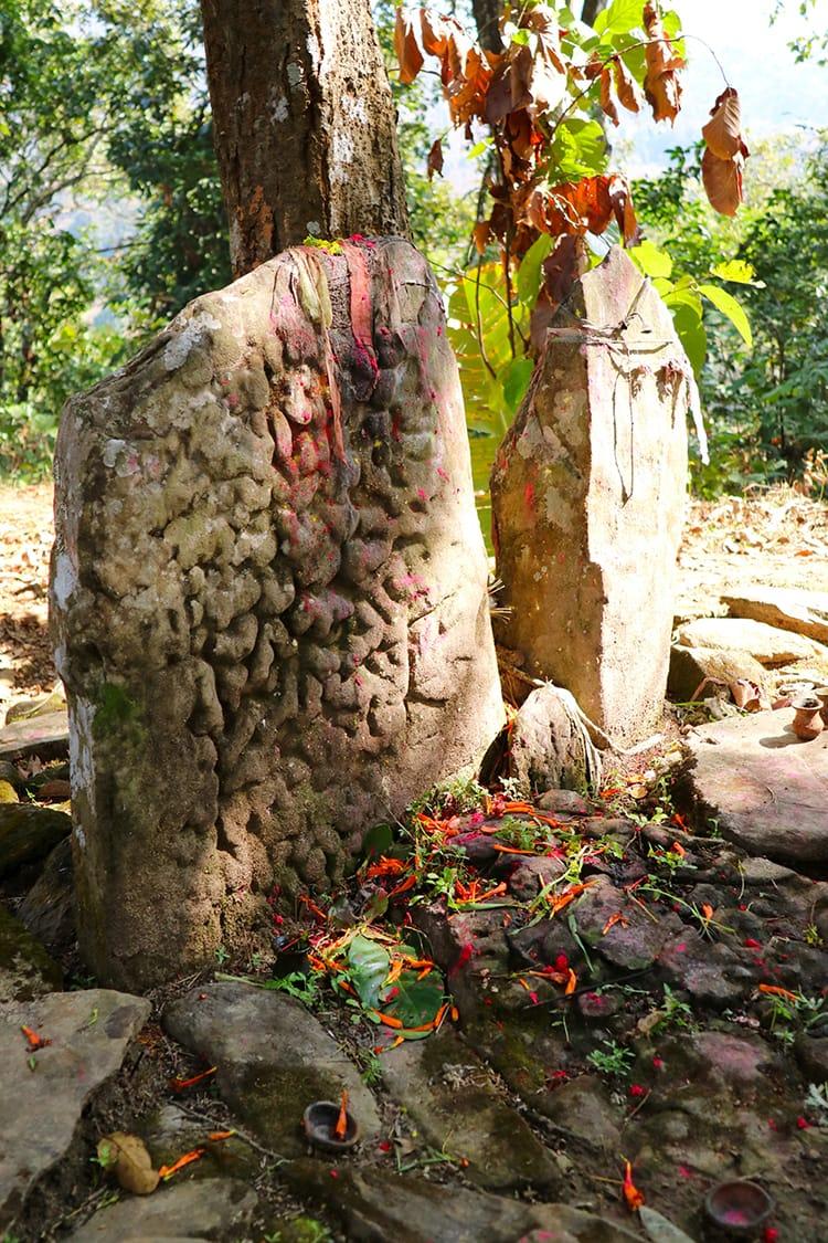 Baraha Temple near the far edge of Begnas Lake where locals worship Vishu