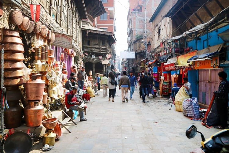 Shopping at Ason Spice Market - 24 Unique Places To Visit in Kathmandu