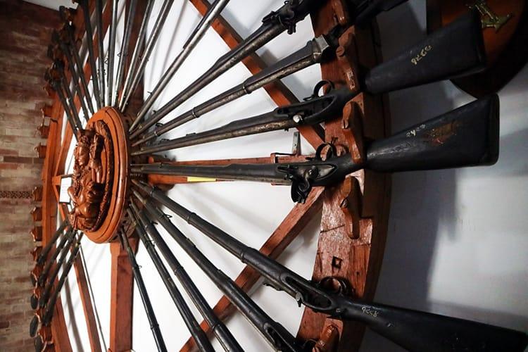 Gun Display in the Nepalese Army Museum in Kathmandu Nepal