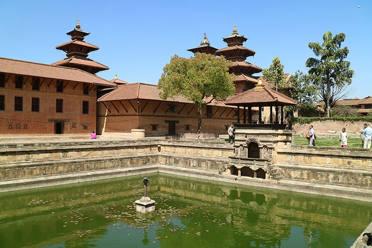 The kings pond inside the Patan Museum