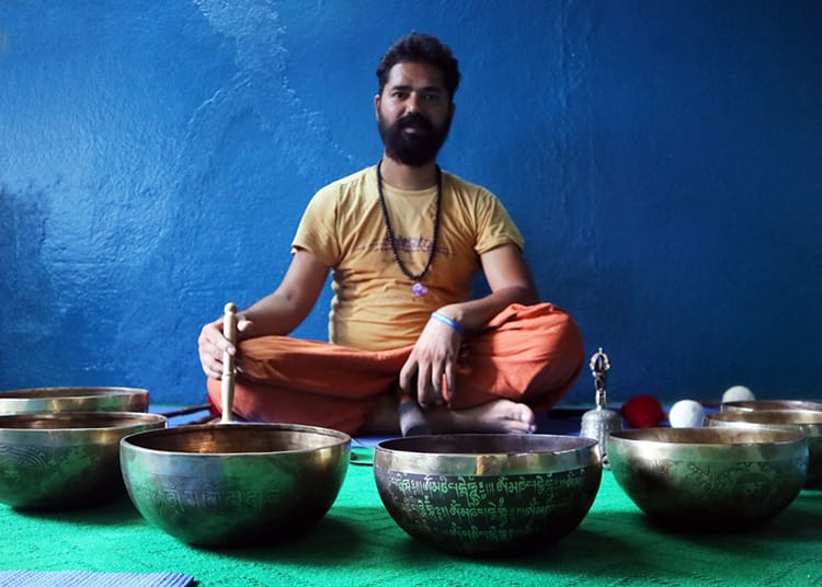 Trying Singing Bowl Therapy in Kathmandu Nepal - 24 Unique Places To Visit in Kathmandu
