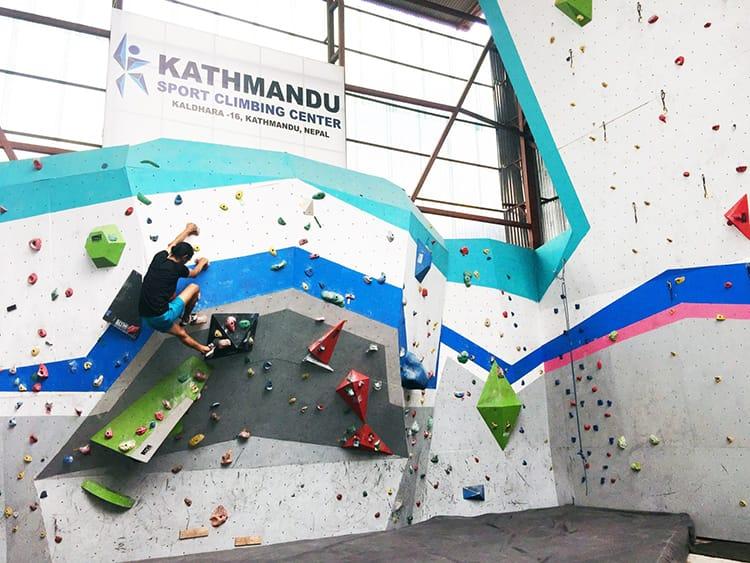 Kathmandu Sport Climbing Center in Nepal