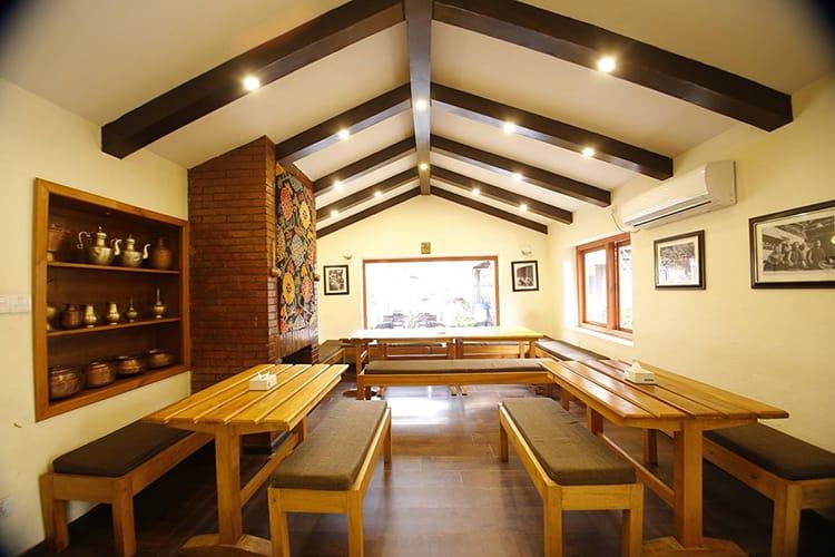 Indoor seating at Jimbu Capital Grill