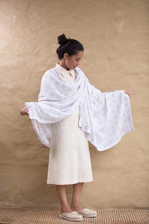 A Newari kasto shawl made in Nepal