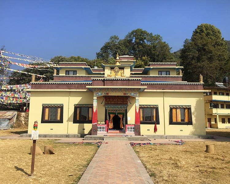 The outside of Nagi Gompa Monastery in Nepal