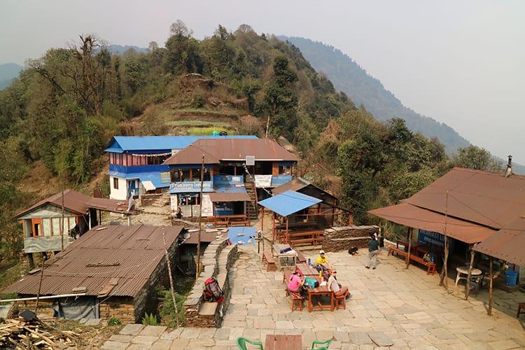 An overhead view of Pittam Deuarli along the Mardi Himal Trekking Trail
